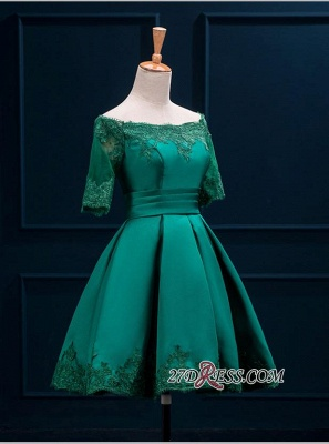 2020 Lace Green Short Appliques Charming Half-Sleeve Homecoming Dress BA3856_6