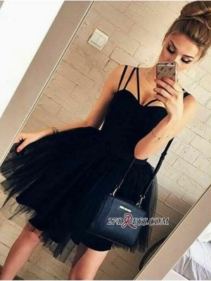 Ball-Gown Glorious Spaghetti-Straps Sweetheart Sexy Homecoming Dresses_2