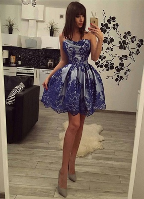 Charming Strapless Lace 2020 Homecoming Dress Short Party Gowns On Sale BC0208_1
