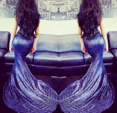 Sexy Sweetheart Sleeveless Mermaid Prom Dress With Sequins_4
