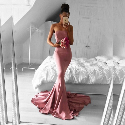 Elegant Strapless Mermaid 2020 Formal Dress Long Prom Dress for Party_3