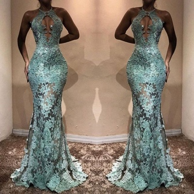 Sexy Lace 2020 Prom Dress | Halter Mermaid Evening Gowns BA7714_3