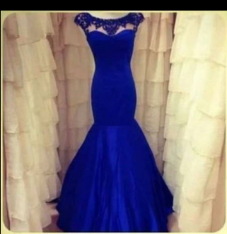 Lace Backless Mermaid Evening Dresses 2020 Long Sleeves Ruffles Prom Gown with Jewel appliques_2