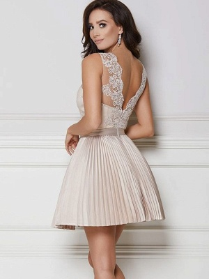 Newest Lace A-line Ruffled Homecoming Dress | Short Fashion Party Gown_2