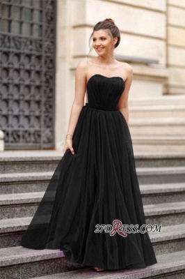 A-line Ruffles Backless Formal Floor-length Charming Sweetheart Evening Dress_7