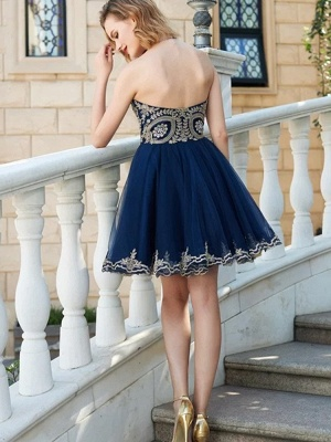 Delicate Lace Sweetheart A-line Homecoming Dress | Sleeveless Short Party Gown_2