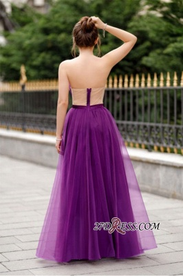 A-line Ruffles Backless Formal Floor-length Charming Sweetheart Evening Dress_5