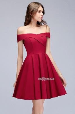 Length Knee Sweetheart A-Line Off-the-Shoulder Homecoming Dresses_3