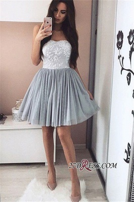 2020 A-Line Short Appliques Sweetheart Appliques Simple Homecoming Dress_3