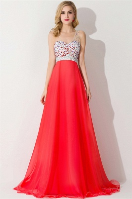 Sexy One Shoulder Crystal Prom Dress Floor Length_1