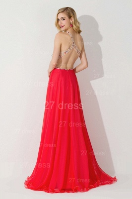Sexy One Shoulder Crystal Prom Dress Floor Length_4