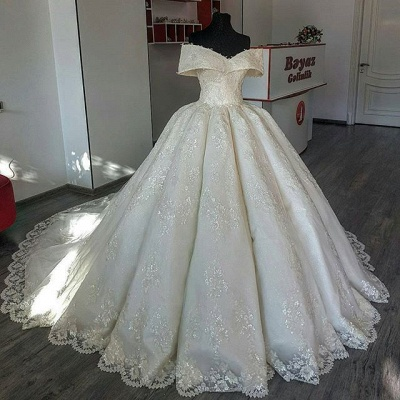 Gorgeous Lace Off-the-shoulder Wedding Dress | 2020 Ball Gown Bridal Gown_2