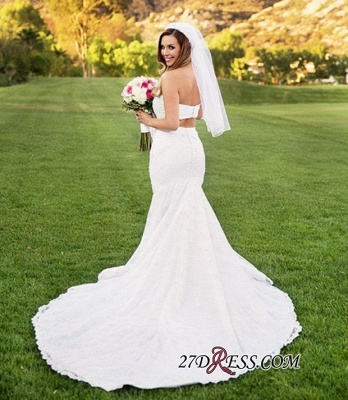 Sexy Two-Piece 2020 Beading Lace Mermaid Sweetheart Wedding Dresses_2