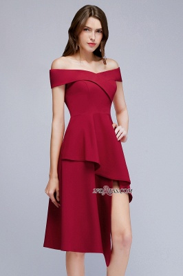 Off-the-Shoulder A-Line Hi-Lo Sweetheart Homecoming Dresses_3