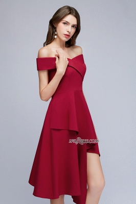 Off-the-Shoulder A-Line Hi-Lo Sweetheart Homecoming Dresses_2
