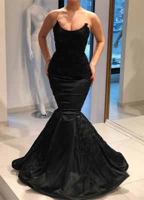 Gorgeous Black Evening Dresses |2020 Mermaid Long Prom Gown_1