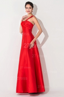 Newest A-line Red Sleeveless Evening Dress Floor-length Lace-up_3