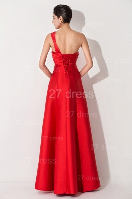 Newest A-line Red Sleeveless Evening Dress Floor-length Lace-up_4