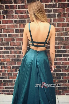 Simple A-Line Prom Dresses | Spaghetti Straps Long Evening Dresses_1