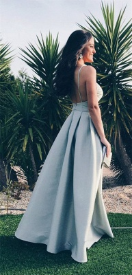 Elegant Spagheeti Strap Long 2020 Evening Dress Sweetheart Party Gowns_3