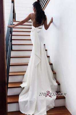Backless Spaghetti-Straps Mermaid Fascinating Wedding Dresses