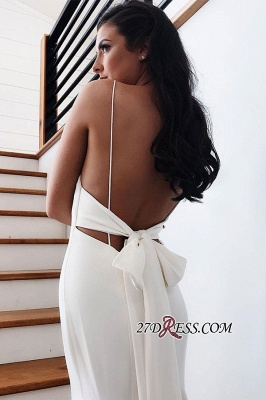 Backless Spaghetti-Straps Mermaid Fascinating Wedding Dresses_3