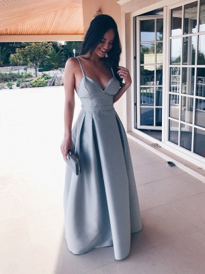Elegant Spagheeti Strap Long 2020 Evening Dress Sweetheart Party Gowns_1