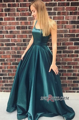 Simple A-Line Prom Dresses | Spaghetti Straps Long Evening Dresses_3