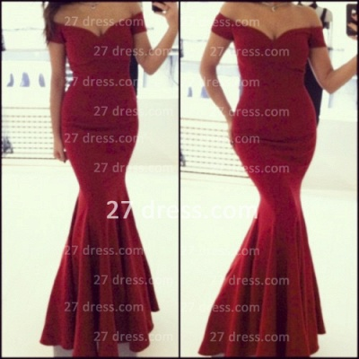 Sexy Off the Shoulder Red Prom dresses 2020_2