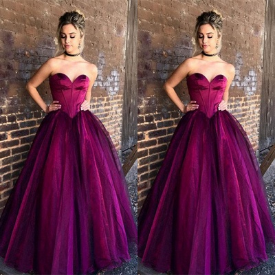 Gorgeous Sweetheart Long Princess 2020 Evening Dress Tulle Long Party Gowns BA9865_3