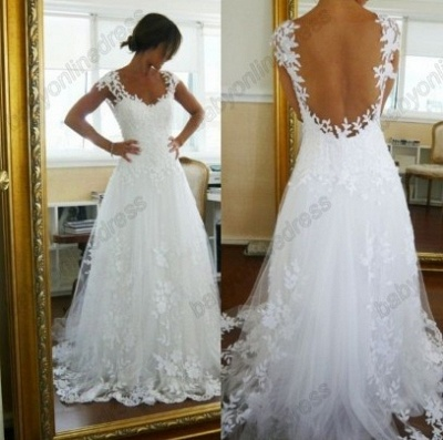 Sexy Lace CustomWedding Dresses 2020 Off the Shoulder Freeshipping Low Price_3