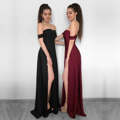 Elegant Off-the-Shoulder 2020 Evening Dress | Prom Party Gowns With Slit BC1257_3