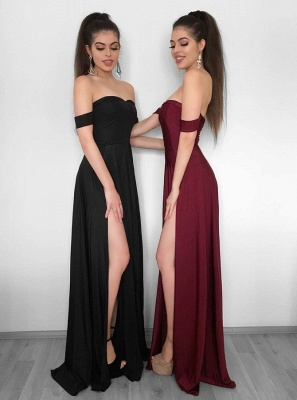 Elegant Off-the-Shoulder 2020 Evening Dress | Prom Party Gowns With Slit BC1257_1