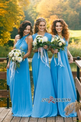 Elegant A-line Covertible Sash Bridesmaid dresses_4