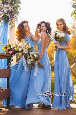 Elegant A-line Covertible Sash Bridesmaid dresses_2