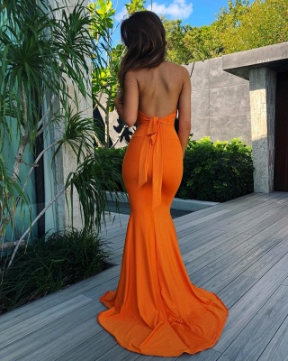 Sexy V-neck Mermaid Sleeveless Formal Dress | 2020 Open Back Prom Gown BM0670_4