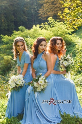 Elegant A-line Covertible Sash Bridesmaid dresses_5