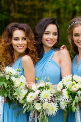 Elegant A-line Covertible Sash Bridesmaid dresses_3