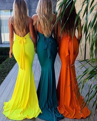 Sexy V-neck Mermaid Sleeveless Formal Dress | 2020 Open Back Prom Gown BM0670_3