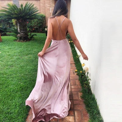V-Neck Long Prom Dress | 2020 Evening Party Gowns With Split_3