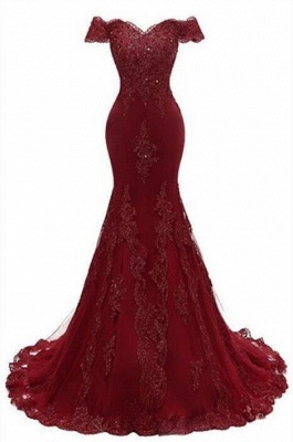Gorgeous Burgundy Prom Dress | 2020 Mermaid Lace Evening Gowns BC0656_1