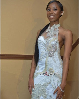 White beadings prom dress, backless evening gowns BK0_2