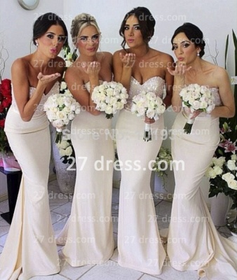 Gorgeous Sequined sheath prom dress satin newest style bridesmaid gowns_2