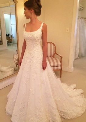 Gorgeous Sleeveless Lace Wedding Dresses | 2020 Long Bridal Gowns On Sale BC0342_1