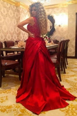 Sexy red designer prom dress on sale removable long evening gowns online_1