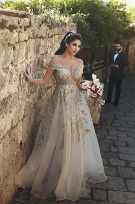 Off-the-Shoulder 2020 Prom Dress | Tulle Lace Appliques Evening Gowns_3