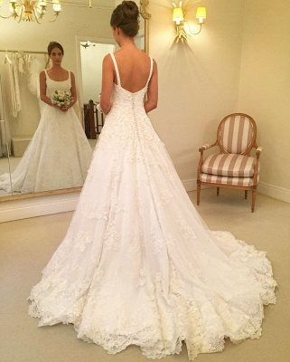 Gorgeous Sleeveless Lace Wedding Dresses | 2020 Long Bridal Gowns On Sale BC0342_2