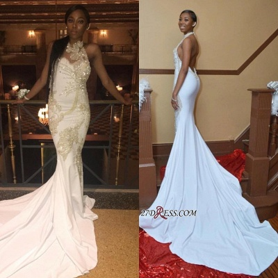 White beadings prom dress, backless evening gowns BK0_3