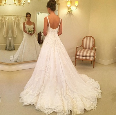 Gorgeous Sleeveless Lace Wedding Dresses | 2020 Long Bridal Gowns On Sale BC0342_3