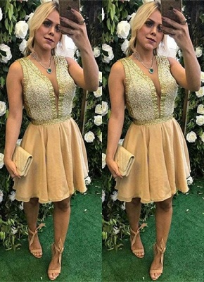 Elegant V-Neck Short Prom Dress | 2020 Homecoming Dress_1